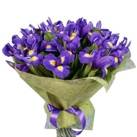 Ирисы 31 шт: букеты цветов на заказ Flowwow
