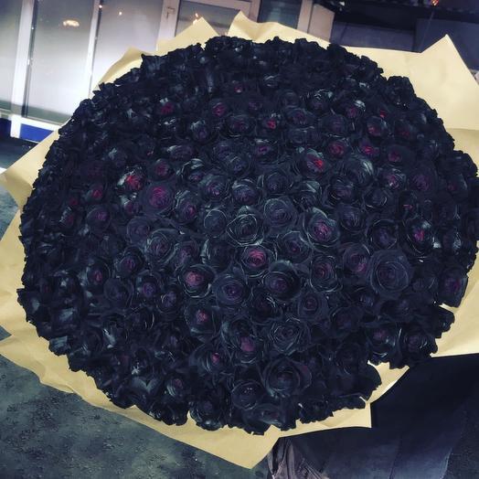 201 чёрная Роза: букеты цветов на заказ Flowwow