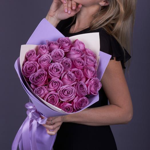25 роз Кул Уотер премиум класса. Эквадор: букеты цветов на заказ Flowwow