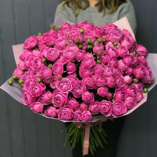 29 кустовых роз МИСТИБАБЛС: букеты цветов на заказ Flowwow