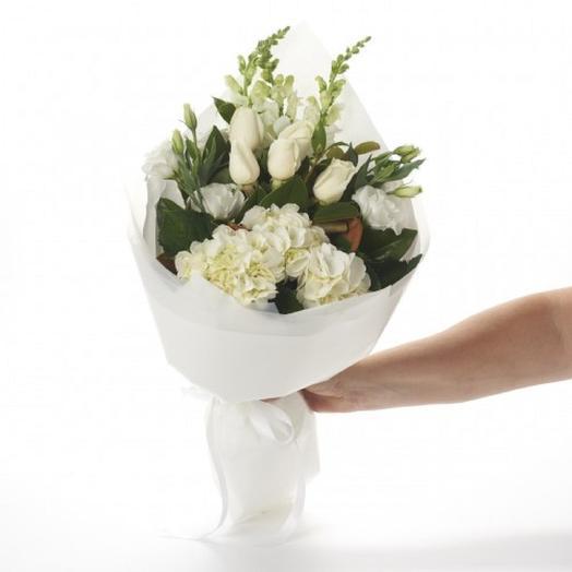 БУКЕТ БЕЛОСНЕЖНЫЙ: букеты цветов на заказ Flowwow