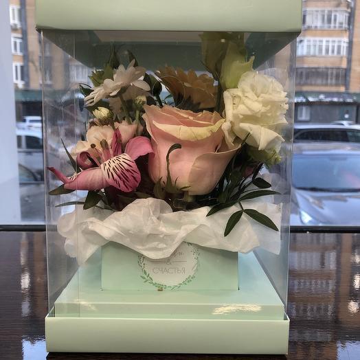 Цветочный бокс мини: букеты цветов на заказ Flowwow