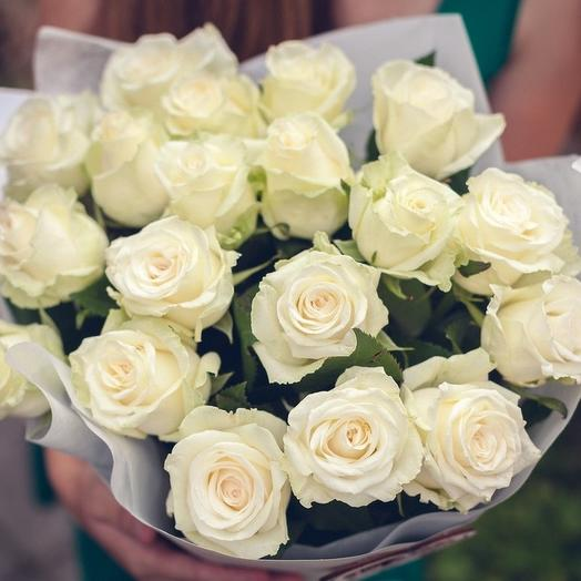 Букет «21 белая роза»