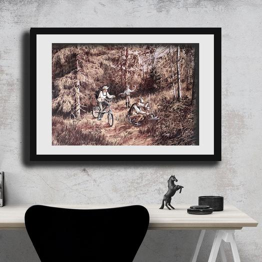 "Картина ""Встреча в лесу"""