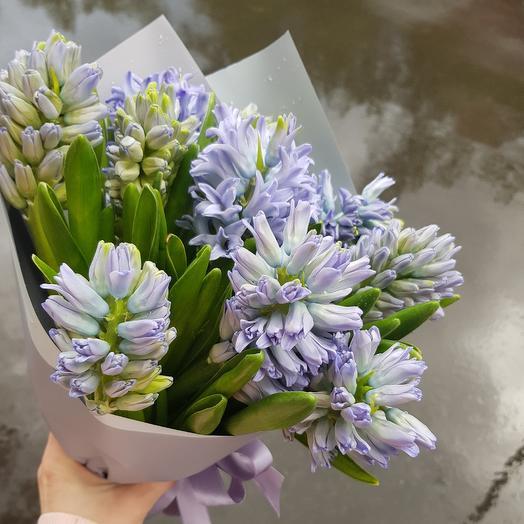 """Гиацинты """"Весенний аромат"""": букеты цветов на заказ Flowwow"""