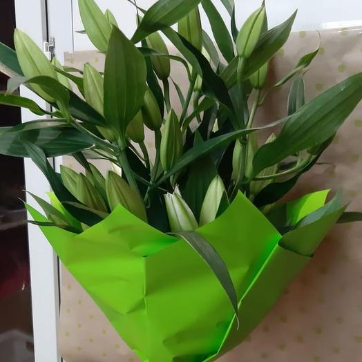Букет «Прекрасная Лилия»: букеты цветов на заказ Flowwow
