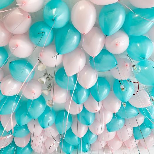 100 шариков с гелием