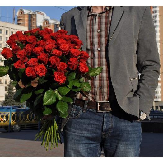 Роза Эль Торо 60 см 39 шт