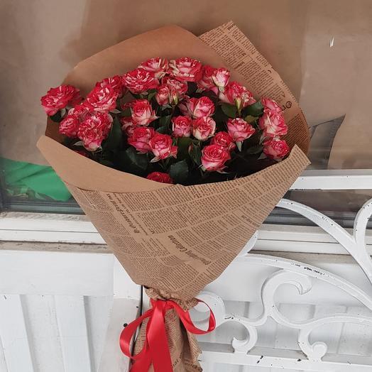Кустовая роза Фаер