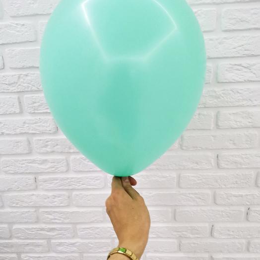 17 Аквамарин Гелиевый шар пастель 30см с обработкой
