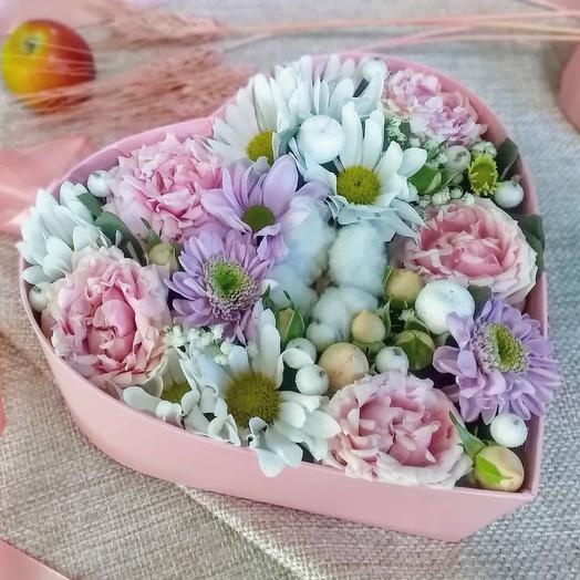 Цветы в сердце