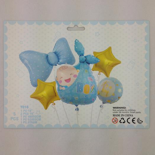 Набор фольгированных шаров на рождение мальчика
