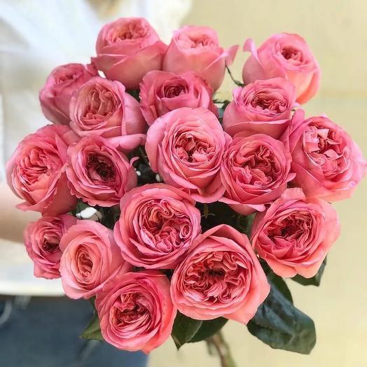 Букет из 17 пионовидных роз Пинк Экспрешн