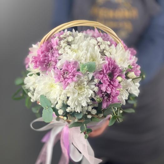 Лукошко хризантем