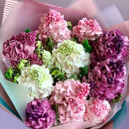 Marshmallow bouquet lilac