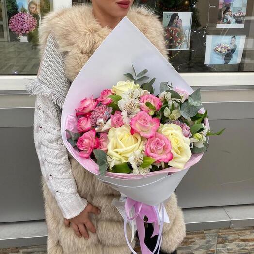 """Сборный букет""""Розовое облачко"""""""