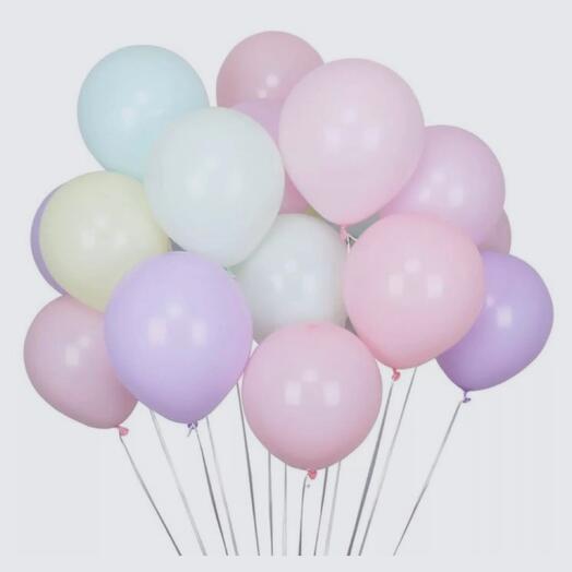 15 воздушных шаров макарун
