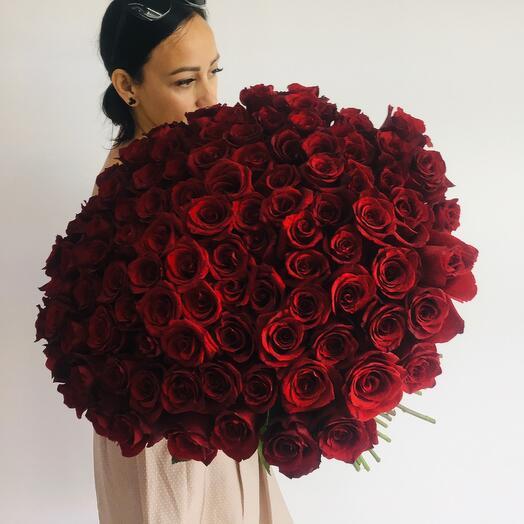 Элитные Красные 101 Роза
