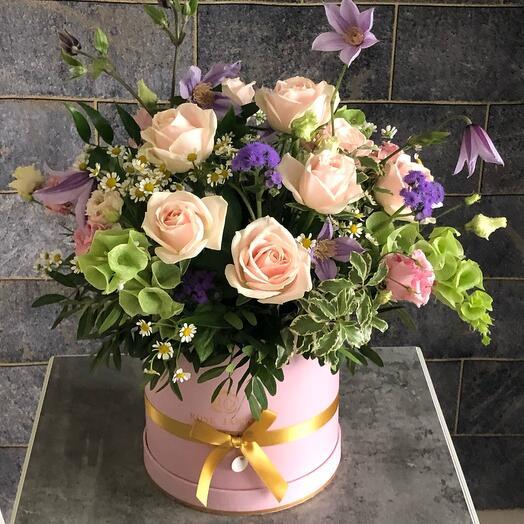 Цветы в коробке «Для Тебя»