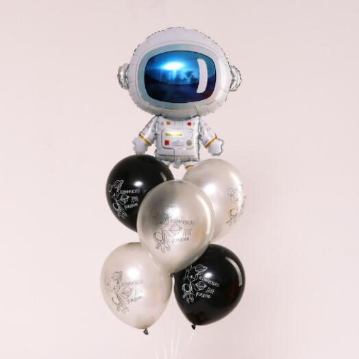 Набор шаров «Космонавт», латекс, фольга, набор 6 шт