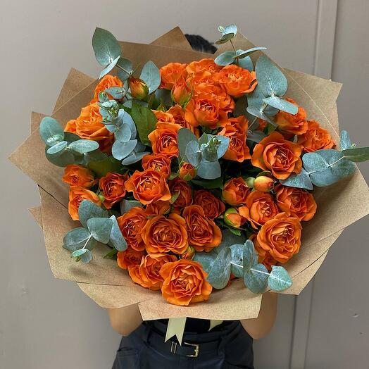 Осенняя композиция из Оранжевых Роз