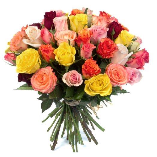 35 роз ассорти
