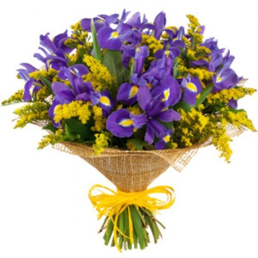 Синяя радость: букеты цветов на заказ Flowwow