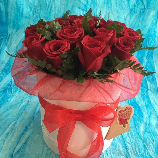 "Коробочка с розами ""Экстра"": букеты цветов на заказ Flowwow"