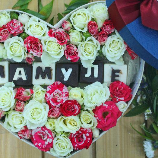Цветочная коробочка и сладости: букеты цветов на заказ Flowwow