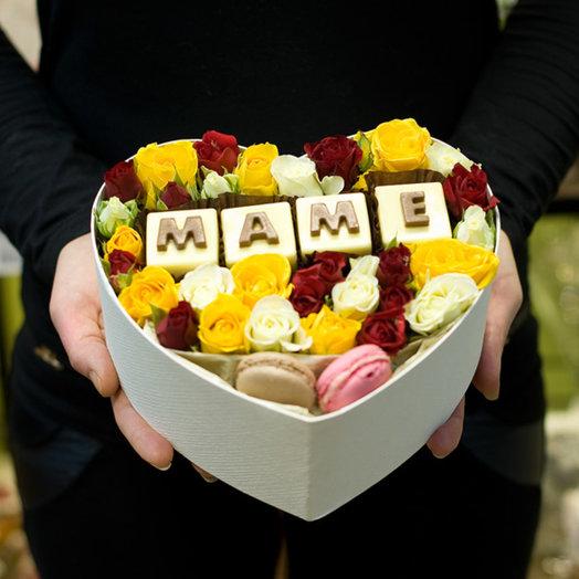 """Подарочная коробка """"Маме"""": букеты цветов на заказ Flowwow"""