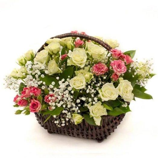 "Корзинка ""Сама Нежность"" Код 18067: букеты цветов на заказ Flowwow"