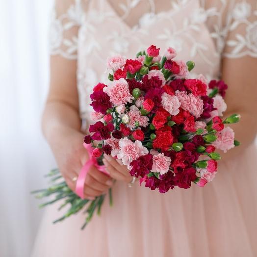 27 кустовых гвоздик МИКС: букеты цветов на заказ Flowwow