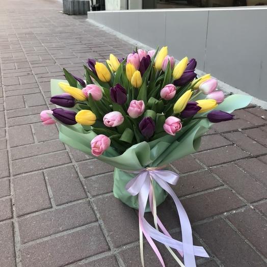 Букет-тюльпаны