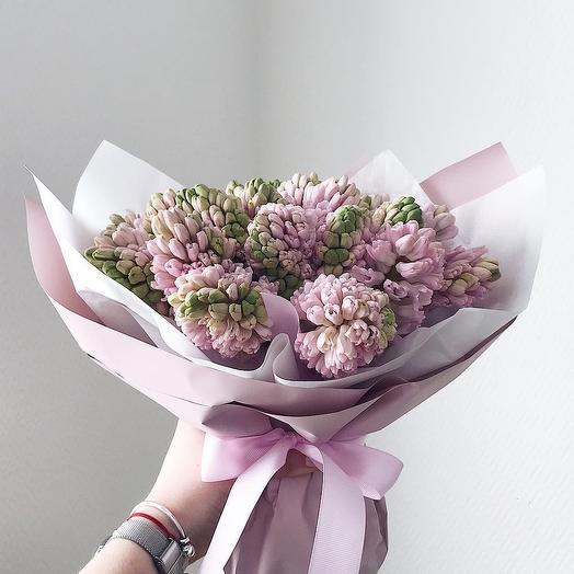 Букет из 15 гиацинтов: букеты цветов на заказ Flowwow
