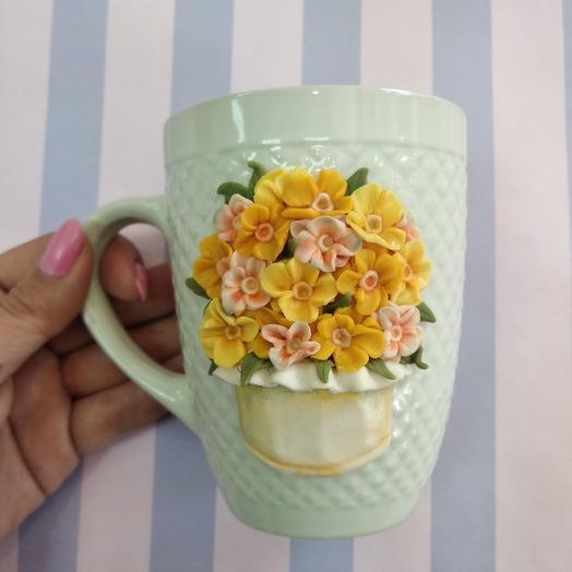 Цветочная кружка: букеты цветов на заказ Flowwow