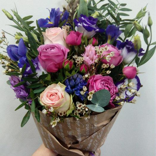 Букетик с розами: букеты цветов на заказ Flowwow