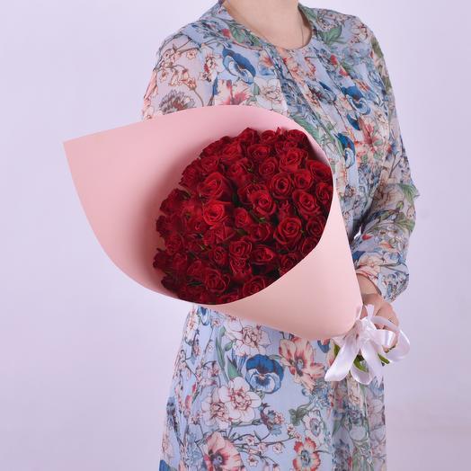 Букет Из 51 Красной Розы: букеты цветов на заказ Flowwow