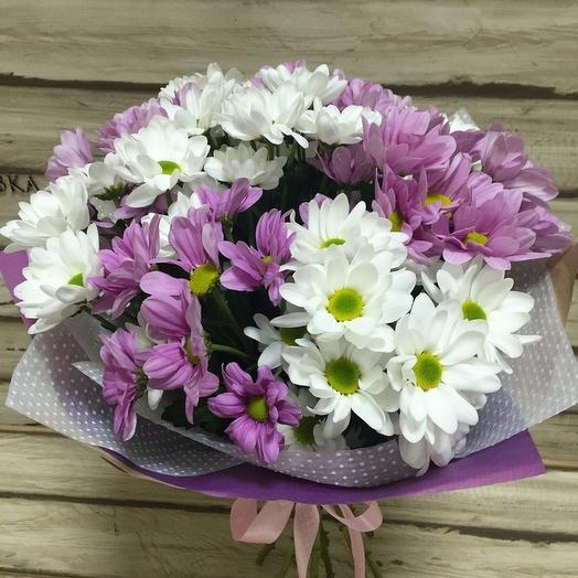 Букет из 7 разноцветных хризантем: букеты цветов на заказ Flowwow