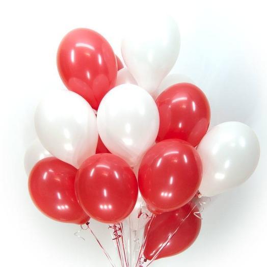 """Шарики """"Red white"""": букеты цветов на заказ Flowwow"""