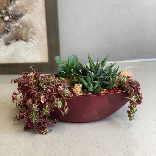 Интерьерная композиция бордо: букеты цветов на заказ Flowwow