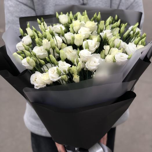 Монобукет с эустомой: букеты цветов на заказ Flowwow