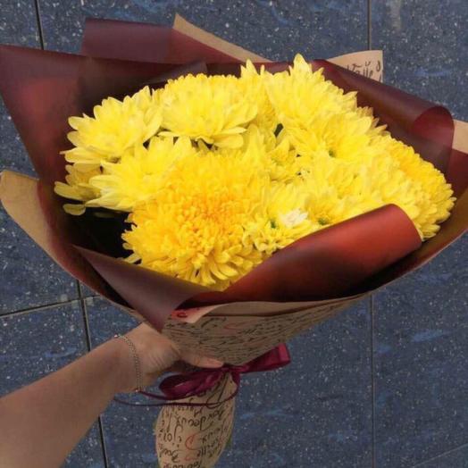 9 кустовых хризантем: букеты цветов на заказ Flowwow