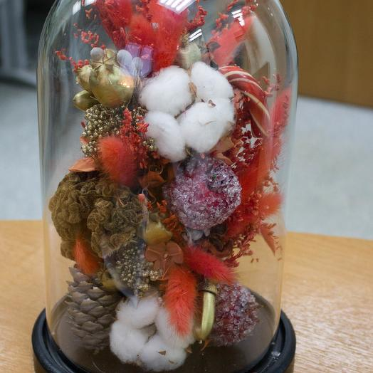 The Cloche of dried flowers