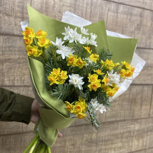 Ароматные нарцыссы для солнечного настроения: букеты цветов на заказ Flowwow