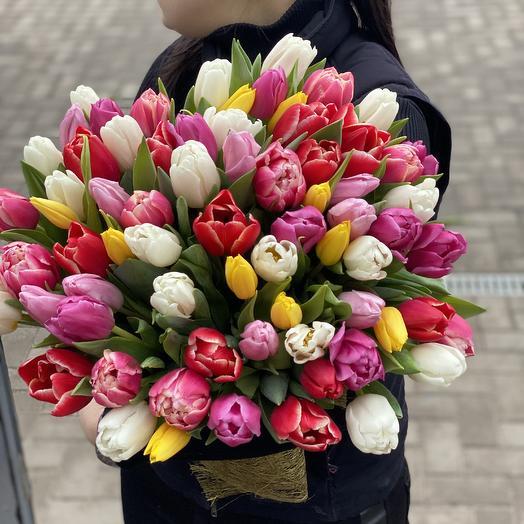 Охапка тюльпан