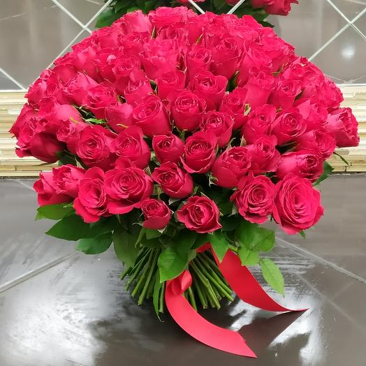 Роза 101шт 40см