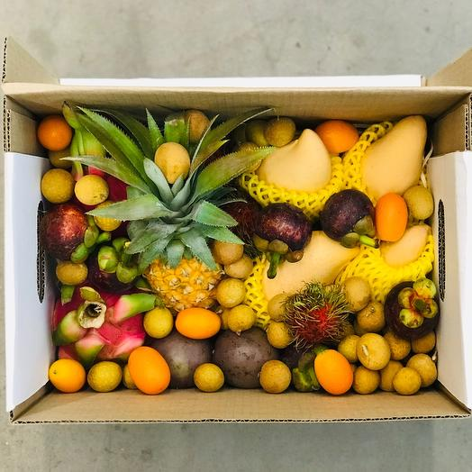 Экзотические фрукты в коробке «Один день в Тайланде»