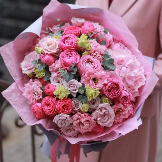 Красивый букет «Розовый фламинго»