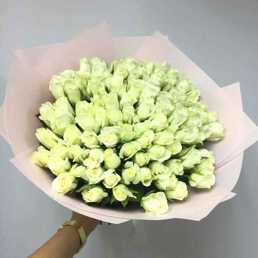 101 белая роза Кения