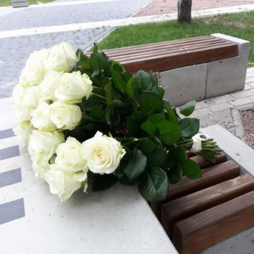 23 белые розы